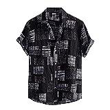 feftops Camisa Hawaianas Hombre Solapa Estampada Moda Casual Manga Corta 2021 Playa de Verano Camisas Hombres Tallas...