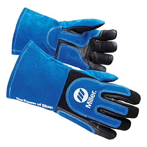 Miller Electric MIG/Stick Welding Gloves,Stick,PR, Large (263339)