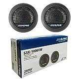 2 tweeters Compatible con Alpine SXE-1006TW 45 vatios rms 280 vatios máx 3 cm de diámetro Profundidad 1.5 cm sensibilidad 88 db spl Coche, por par