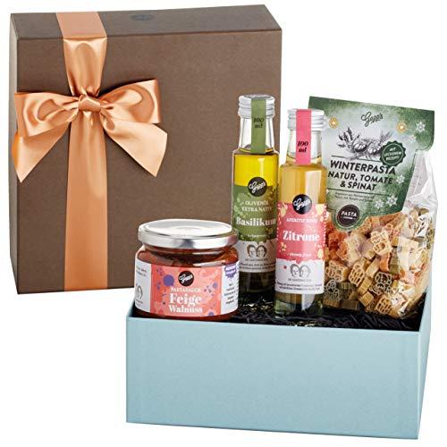 Gepp's Feinkost Winter Geschenkbox I Tolles Geschenk für Frauen und Männer, zum Geburtstag   Set mit winterlichen Delikatessen, hergestellt nach eigener Rezeptur (A0023)