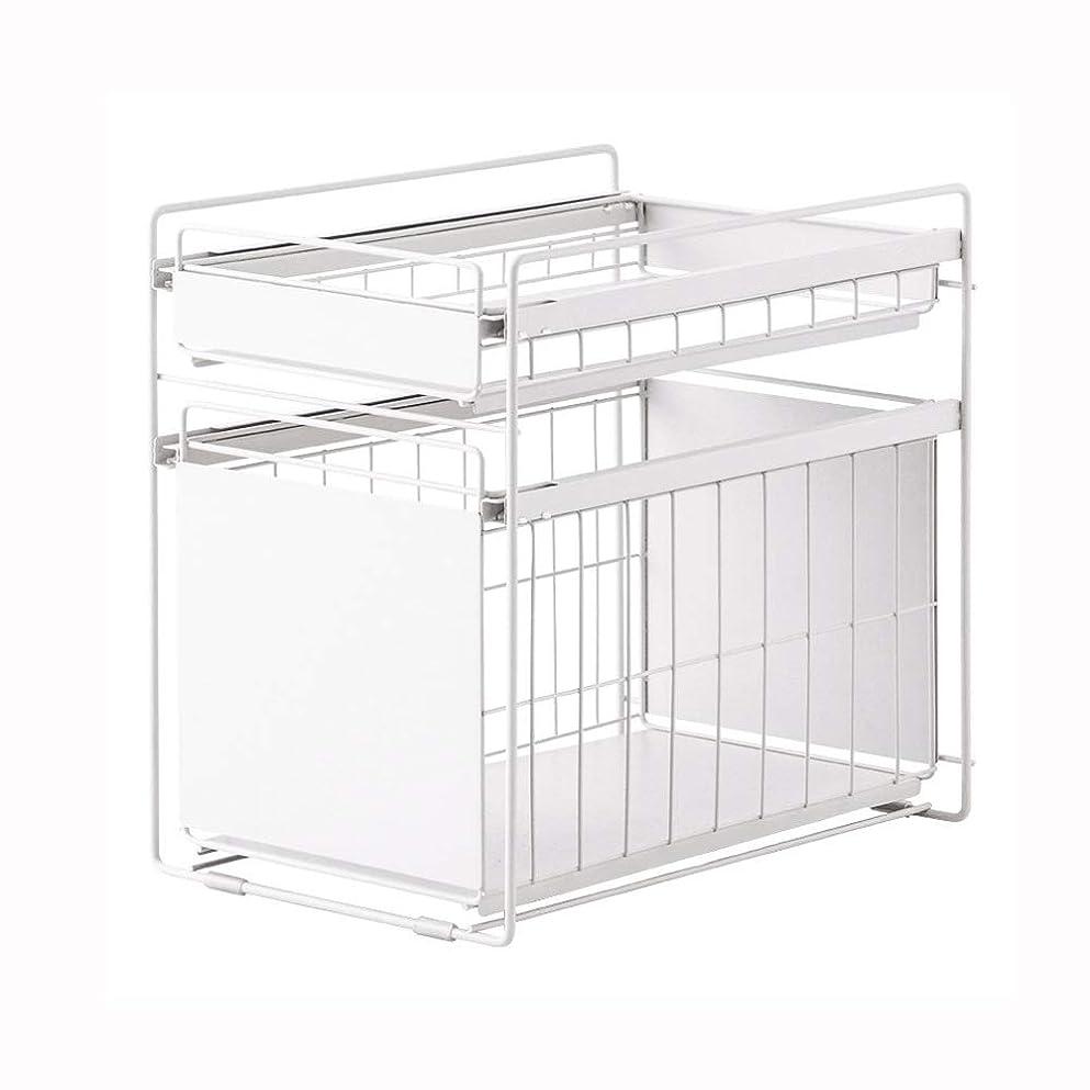 ここにとティームデコラティブ2層の錬鉄製の棚、多層仕上げの棚で区切られたフロアスタンドのキッチンシンク、広い用途、キッチン、バスルームなどに配置できます。