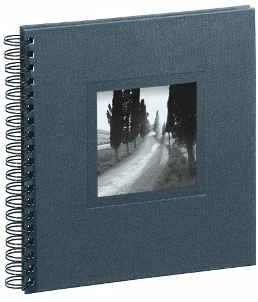 Pagna Ways/Tuscany 12173-10 Spiral Album 240 x 250 mm Linen Cover with Card / 50 Pages Black Mounting Paper
