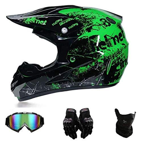 J-ouuo - Casco de motocross, casco de bicicleta de montaña, casco de...