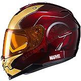 Marvel Iron Man Lente Doble Casco de Motocicleta, Retro Off-Road Locomotive War Edition Casco Completo A