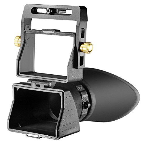 Neewer universelle LCD Displaylupe mit 2,5-facher Vergrößerung für 3-Zoll- und 3,2-Zoll-Bildschirm mit LCD-Bildschirm für Canon, Nikon, Sony, Olympus, Pentax DSLR-Kameras