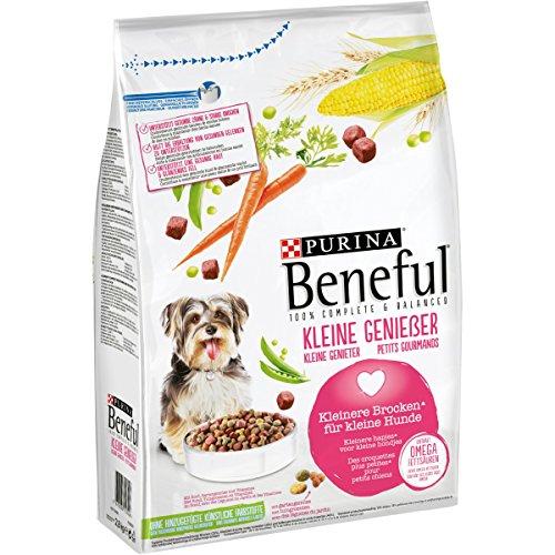 PURINA BENEFUL Kleine Genießer Hundefutter trocken für kleine Rassen, mit Rind, 4er Pack (4 x 2,8kg)