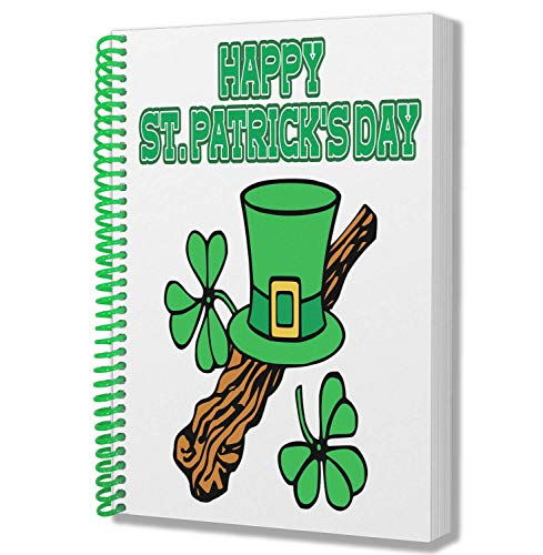 St Patricks daggeschenk - A5 notitieblok notitieblok - Ierse Paddy Hoed en Shamrock Design