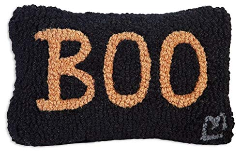 "Chandler 4 Corners Artist-Designed Boo Hand-Hooked Wool Decorative Petite Throw Pillow (8"" x 12"")"