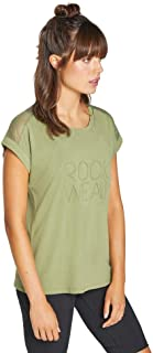 Rockwear Activewear Women's Logo Front Tee Light Olive 14 from Size 4-18 for T-Shirt Tops