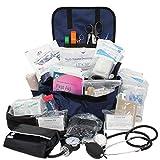 Luminary Trauma Bag Stocked Medium Modular Reflective EMS-EMT Medic Bug Out Bag First Aid Kit for...