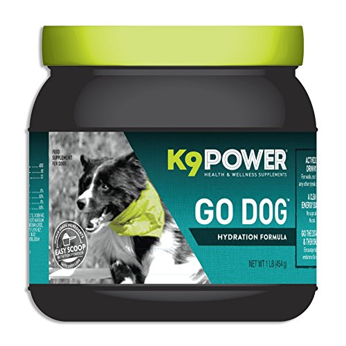K9 Power - Go Dog - Total Hydration & Performance Drink for Active Dogs - Aids Muscle Function, Supports Hydration, Endurance and Recovery (1 lb)