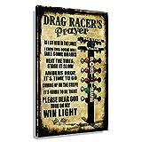 WQINGW Drag Racer's Prayer Vintage Poster for...
