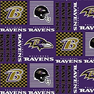 Country Snuggles Baltimore Ravens Patch Fabric by The Yard (Fat Quarter)