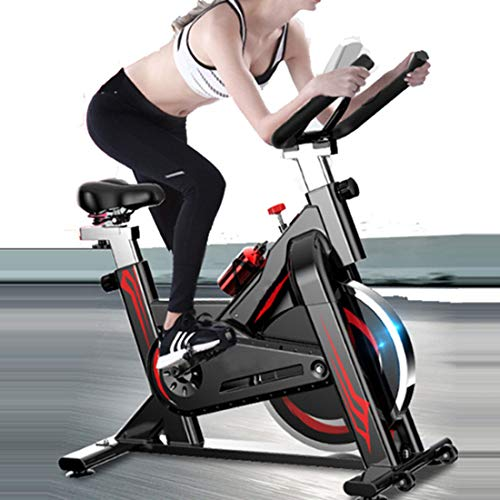 NHL Spinning Fitness Indoor, Silenziosa Cyclette con Guida Fissa A Cintura, con Display Multifunzione A LCD, può Essere Utilizzata per L'allenamento di Cyclette Aerobica Domestica
