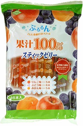花田食品 果汁100%スティックゼリー 16本×12袋