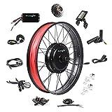EBIKELING Ebike Conversion Kit 48V 1500W 26' Fat Tire Direct Drive Waterproof Electric Bike Conversion Kit - Ebike Kit - Hub Motor Kit (Rear/LCD/Thumb)