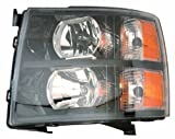 Depo 335-1145P-US2 Chevrolet Silverado Headlight Unit Set with Black Bezel