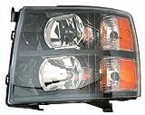 Depo 335-1145P-US2 Chevrolet Silverado Headlight Unit Set with Black Bezel