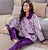 Pajamas Nightwear Warm Pajamas Set For Women Thick Long Sleeve Pyjamas Sets Nightgown Pijama Suit Female Homewear L Color9
