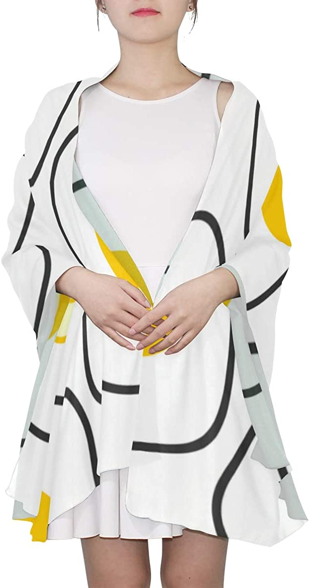 Fried Eggs Yummy Breakfast Unique Fashion Scarf For Women Lightweight Fashion Fall Winter Print Scarves Shawl Wraps Gifts For Early Spring
