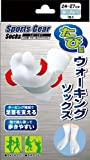 スポーツギア ウォーキング足袋型ソックス 白グレー(24cm〜27cm*1足)