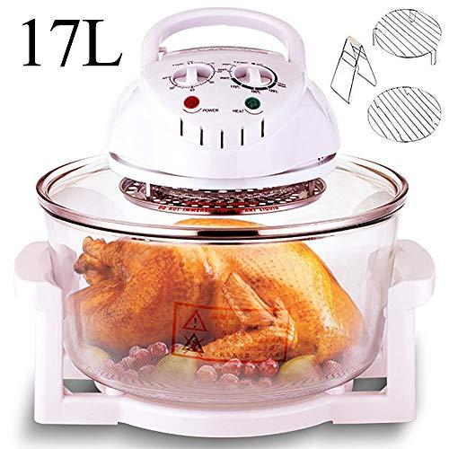 LCAZR Tragbarer Halogen Konvektomatenblech Multi-Funktions-Cooker 1300W Mit Selbstreinigungsfunktion, Einstellbare Temperaturregelung, Ideal Für Brathähnchen, Gemüse, Pommes Frites,B