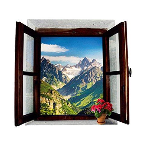 3d Neve Decorazione Adesivi Parete Scena Di Montagna Decalcomania Sala Home