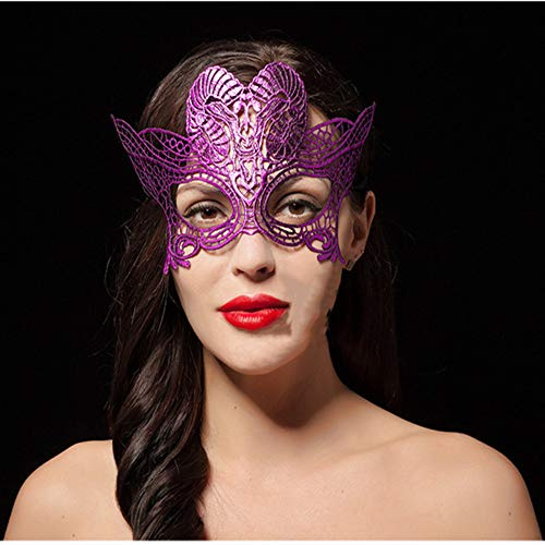 BEIKE Maschera per Occhi in Pizzo Sexy Eyemask Women Constellation Mask Maschera per Travestimento Make Up Party (Maschera in Pizzo Capricorno),K-Rose Red