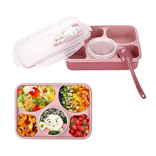 kaimao Bento cajas a prueba de fugas microondas y lavavajillas seguro Lunch Boxes con 5+ 1Separado Contenedores