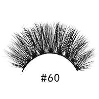 Murakush つけまつげ 1ペア 3D ミンクヘア アイラッシュ伸び 多層 ふさふさ フェイク 化粧品 #60