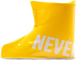 Reusable rain Shoe Cover, Outdoor Silicone Non-Slip Thick wear-Resistant Bottom rain Shoe Cover JCCOZ (Color : Yellow, Size : XXL)