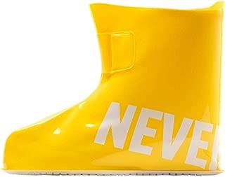 JWWOZ Reusable rain Shoe Cover, Outdoor Silicone Non-Slip Thick wear-Resistant Bottom rain Shoe Cover (Color : Yellow, Size : XXL)