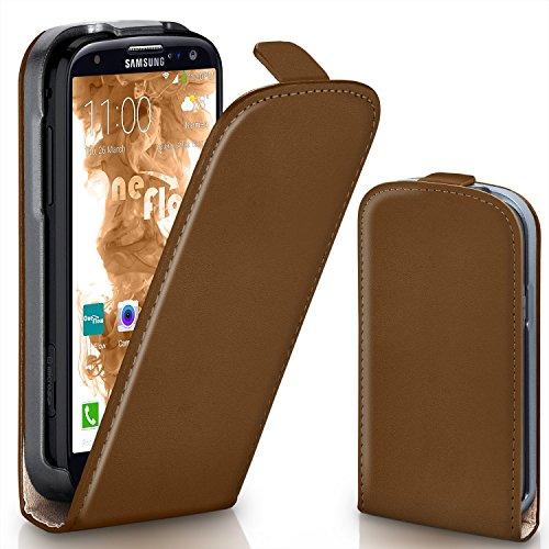 MoEx Flip Cover con Chiusura Magnetica Compatibile con Samsung Galaxy S3 / S3 Neo   Finta Pelle, Marrone Russet