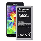 Galaxy S5 Battery 3600mAh Acevan Upgrade Replacement Battery for Samsung Galaxy S5 G900V Verizon G900P Sprint G900T...