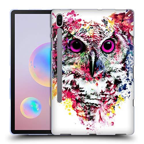 Head Case Designs Oficial Riza Peker Búho Animales Carcasa de Gel de Silicona Compatible con Samsung Galaxy Tab S6 (2019)