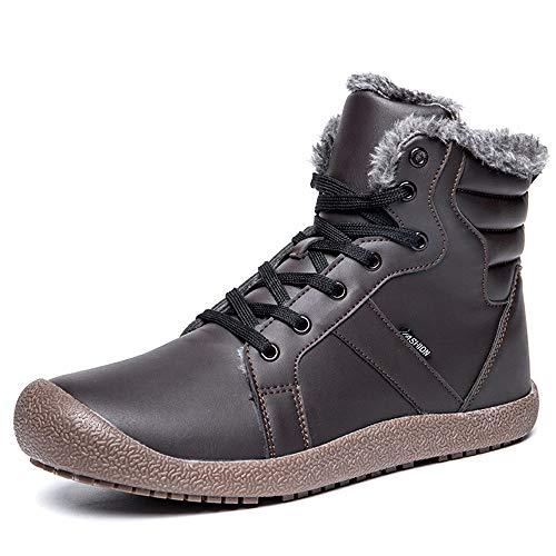 QHGao heren- en dameslaarzen, halflange skischoenen, wandelschoenen, outdoor-sportschoenen, 360 graden rondom warm en winddicht, comfortabel en omslachtig
