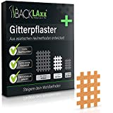BACKLAxx 120x Crosstape in colore della pelle, dimensioni Tipo a - Cross Tape Kinesiologico con una forte presa - Cerotti per Agopuntura, Taping Kinesiologico (Beige M- Size)