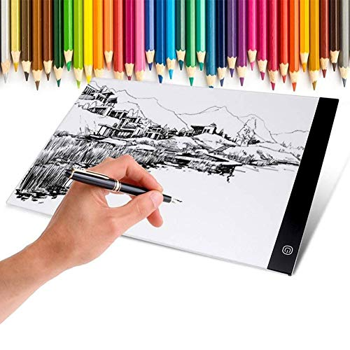 WANGIRL Rastreo Mesa De Luz para Dibujo, Tableta De Luz, Tablero De Trazado Digital con Cable USB, Light Pad para Artistas, Dibujo, Animación, Bocetos, Diseño Artistas