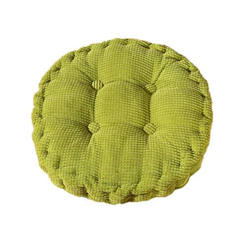 Fablcrew Sitzkissen Stuhlkissen Polster Hochlehner Auflage Corduroy Rund Sitzauflage für Stühle Gartenmöbel (Grün)