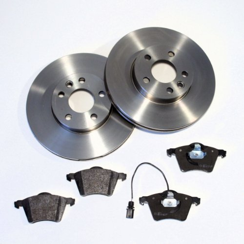 Bremsscheiben/Bremsen + Bremsklötze + Warnkontakte für vorne/für die Vorderachse
