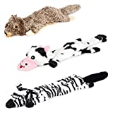 Welltop Squeaky Dog Toys, Paquete de 3 Juguetes interactivos duraderos Set de Perros, Juego de Mascotas Dog Sound Chew Squeaker para Perros Peque?os y medianos
