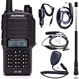 BaoFeng UV-9R Dual Band 136-174/400-520MHZ VHF/UHF Dustproof Waterproof IP67 Transceiver Walkie Talkie Two Way Radio with USB Program Cable, Car Charger,Speaker, Antenna and Earpiece