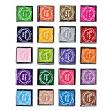 CC-US 20 Colors Non Toxic & Washable Craft Finger Ink Pad, Kids Fingerpaint Rainbow Ink Pads for Rubber Stamps Partner