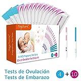 Magichome 10 Tests de Ovulación 25 Miu/Ml, Tiras De Prueba De...