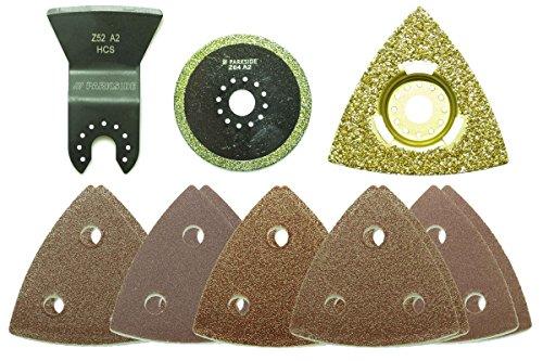 Parkside® Multifunktionswerkzeug Zubehör Set PMFWZA 3 A1 13-teilig - Badsanierung