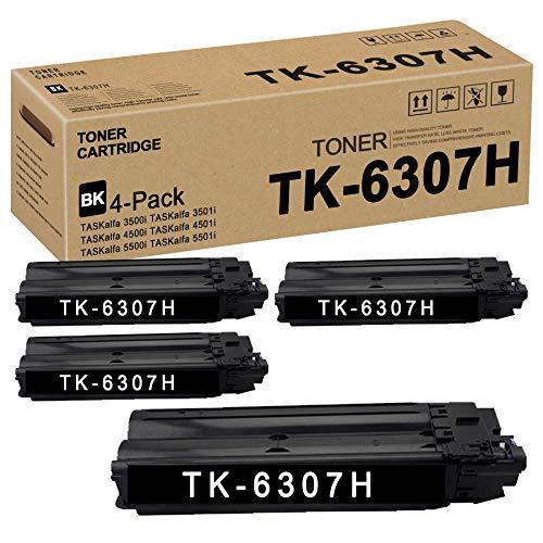 TK6307H TK-6307H 1T02LH0US2 (Black,4 Pack) Toner Cartridge Replacement for Kyocera TASKalfa 3500i 3501i 4500i 4501i 5500i 5501i Toner Kit Printer