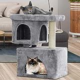 BEAU JARDIN 84 CM Árbol para Grande Gatos Árbol Rascador para Gatos para Gatitos Centro de Actividades para Gatos con Postes Recubiertos de Sisal Árbol para Gatos Rascador con Plataformas Rascador