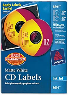 AVE8691 - Avery Inkjet CD/DVD Labels