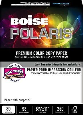 """BOISE POLARIS Premium Color Copy Paper, 18""""x12"""", Digital, 98 Bright White, 1500 Sheets/Carton (BCP-2818-CTN)"""