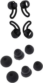 Shiwaki Profesional Kits Oreja Gancho de Auricular con Silicona Tapones (S+M+L), Repuestos para Beatsx Urbeats - Negro